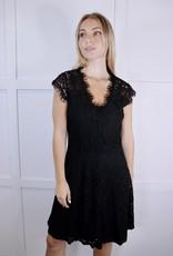 HUSH Lace v neck cap sleeve skater dress