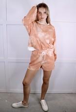 HUSH Tie dye lounge shorts
