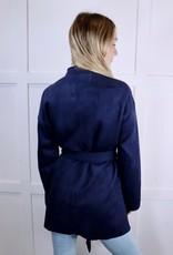 HUSH Vegan suede robe jacket