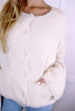 HUSH Soft eyelash fur cardigan