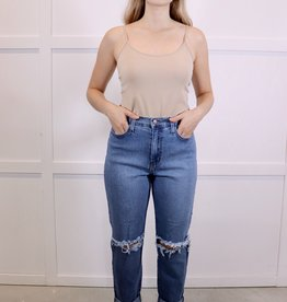 HUSH Distressed boyfriend jeans