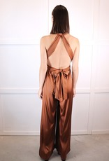 HUSH Satin backless jumpsuit