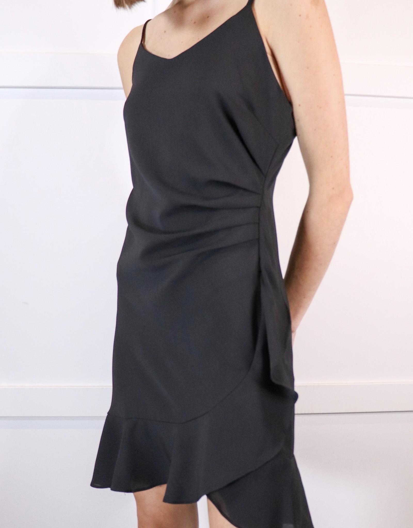 HUSH Cami dress with flounce hem