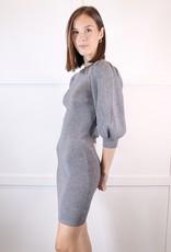 HUSH Bubble slv rib knit dress
