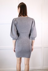 HUSH Bubble slv rib knit dress