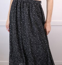 HUSH Star print tea length skirt