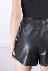 HUSH Faux leather shorts