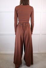 HUSH Stripe printed knit top
