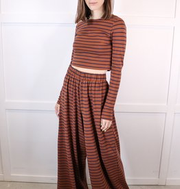 HUSH Stripe printed knit pants