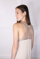 HUSH Crochet back ribbed maxi