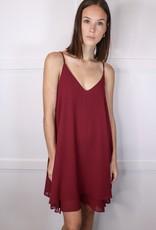 HUSH Double layered v neck chiffon dress