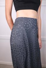 HUSH Muted dot midi skirt