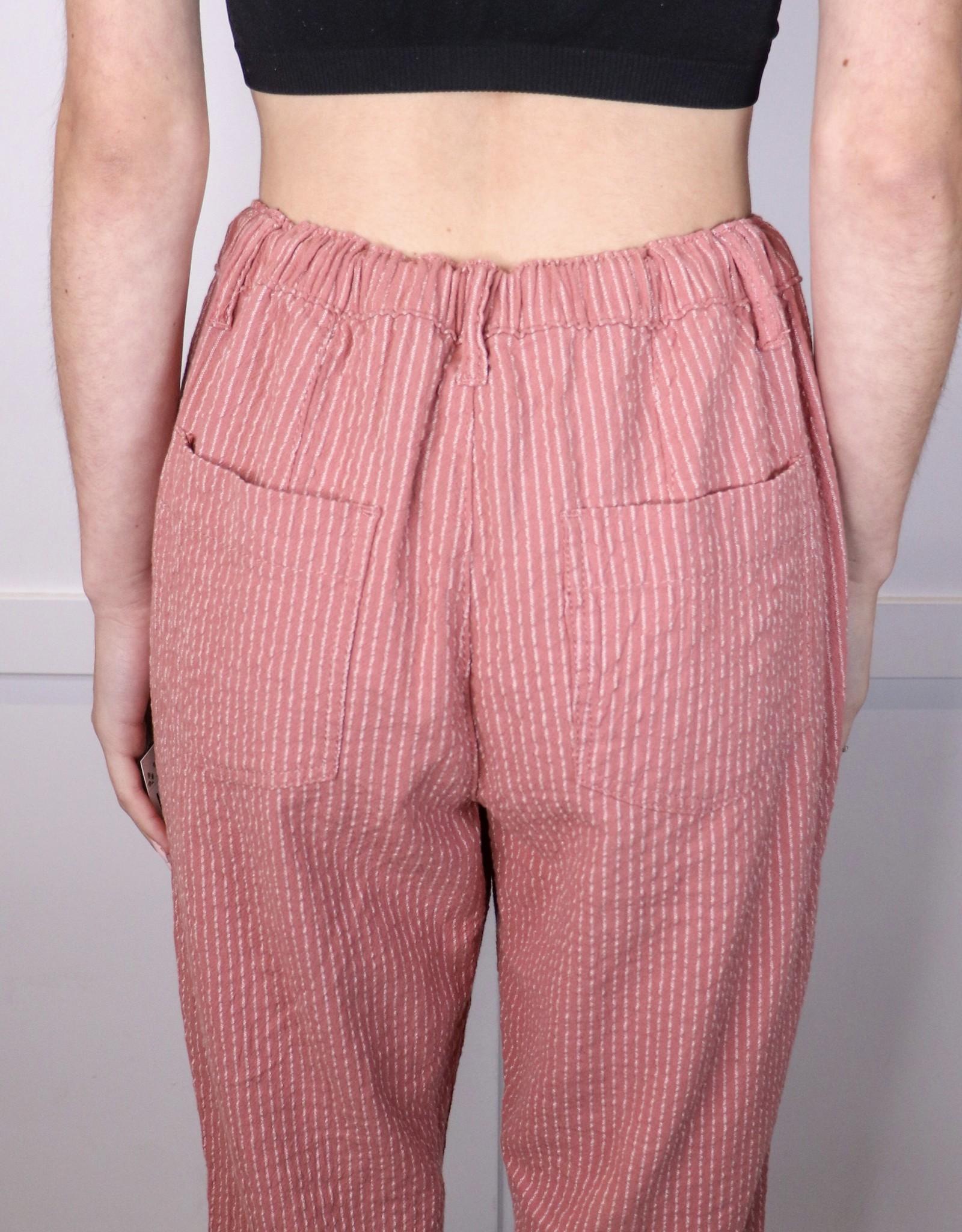 HUSH Pinstripe frayed hem pants