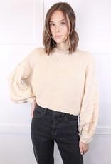 HUSH Textured sleeve sweater