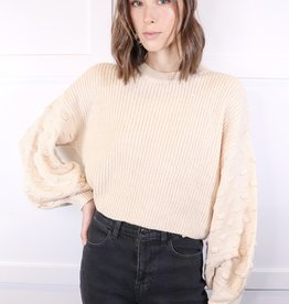 HUSH Textured sleeve sweater