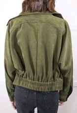 HUSH Corduroy moto style jacket