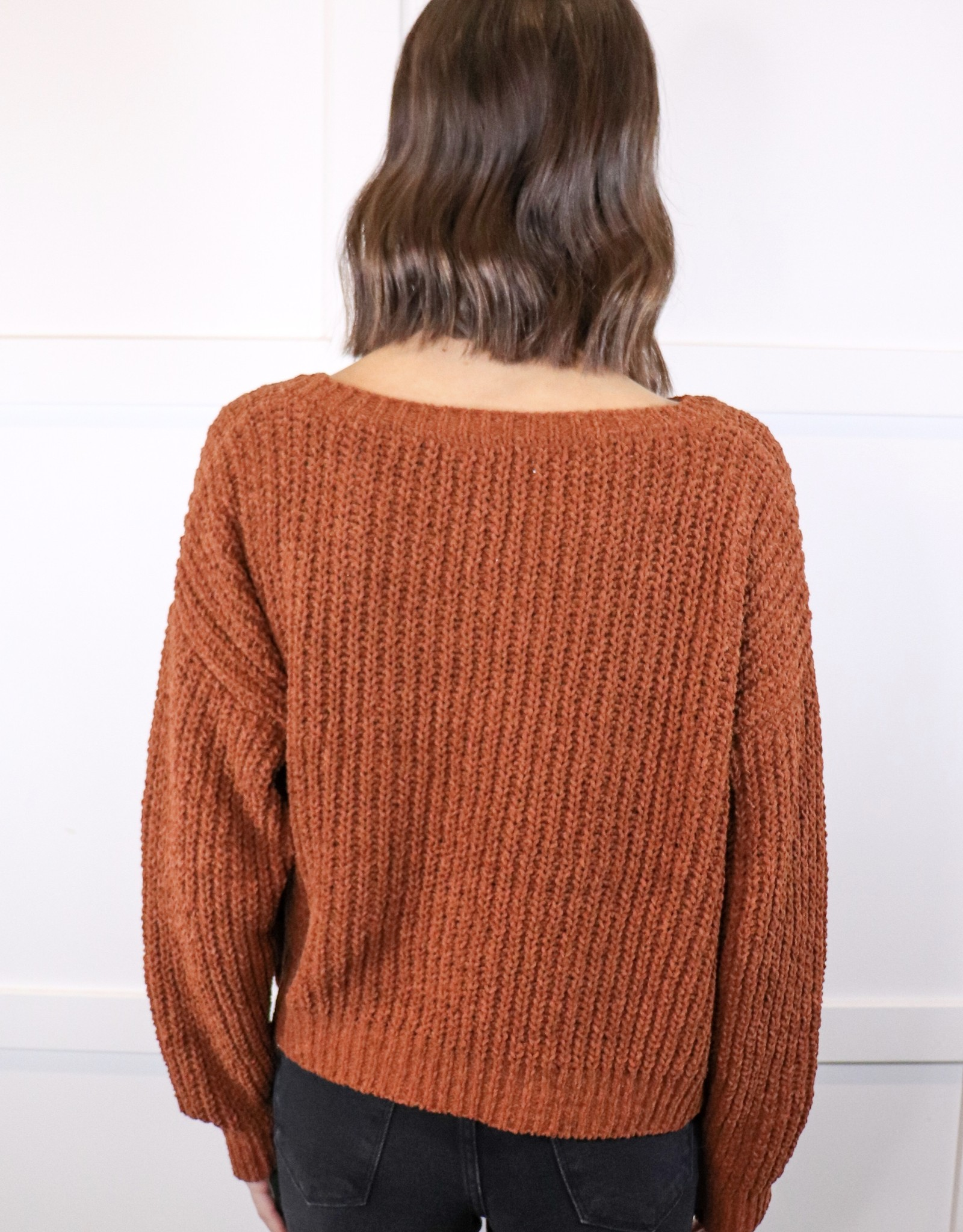 HUSH Soft chenille knit sweater