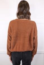 HUSH Fuzzy long slv sweater