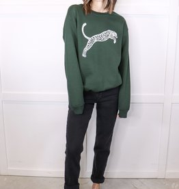 HUSH Classic cut panther sweater