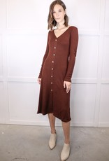 HUSH Button down rib knit dress