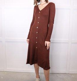 HUSH Button down rib knit dress