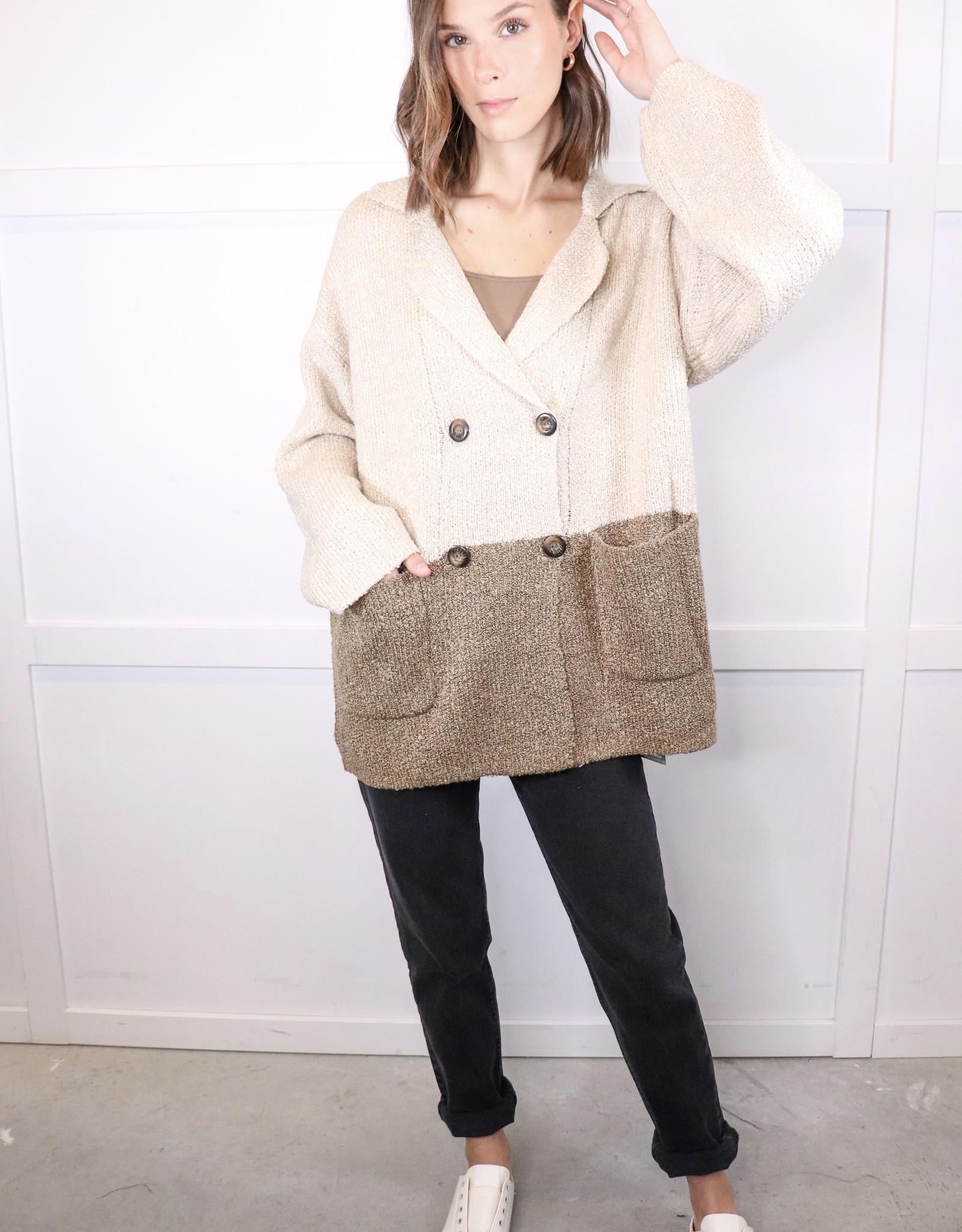 HUSH Colour block cardigan jacket
