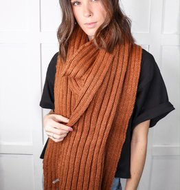 HUSH Oversized ribbed tassel scarf
