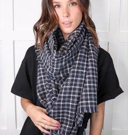 HUSH Tattersall plaid blanket scarf