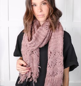 HUSH Feather knit boho scarf