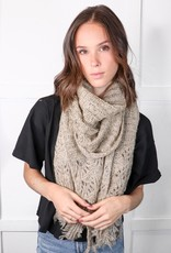HUSH Feather knit boho scarf