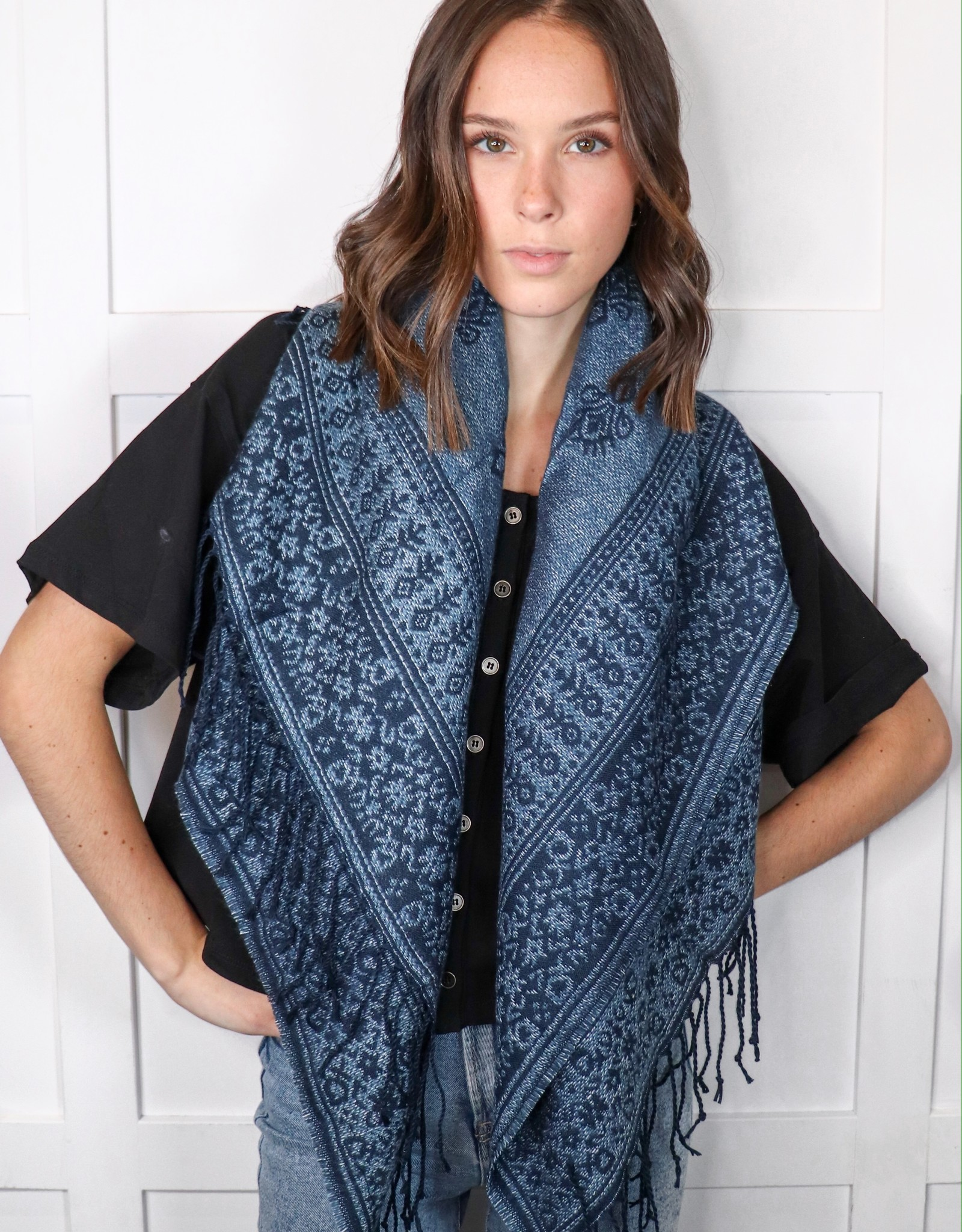 HUSH Moroccan border blanket scarf