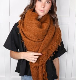 HUSH Mohair square blanket scarf