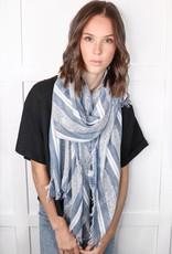 HUSH Woven vertical stripe scarf