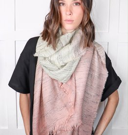 HUSH Two tone ombre scarf