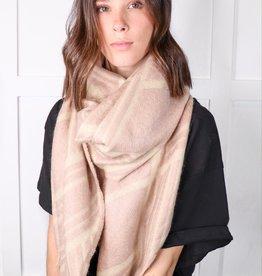 HUSH Geometric pattern scarf