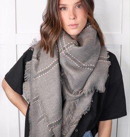 HUSH Plaid blanket scarf
