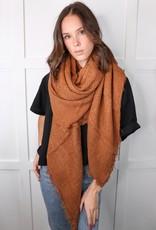 HUSH Open weave square scarf