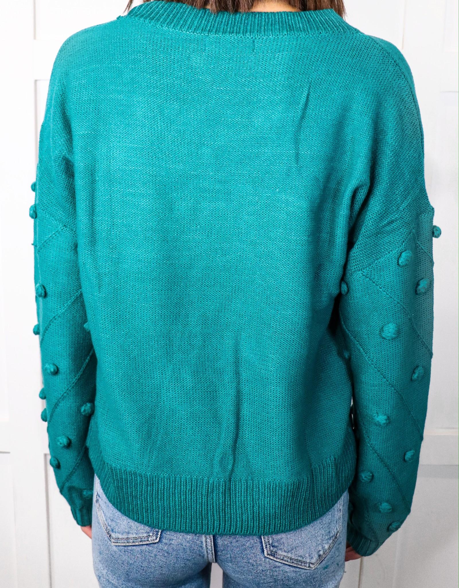 HUSH Pom pom sleeve sweater
