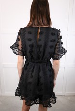 HUSH Pompom trim dress