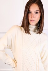 HUSH Turtleneck cable knit maxi sweater