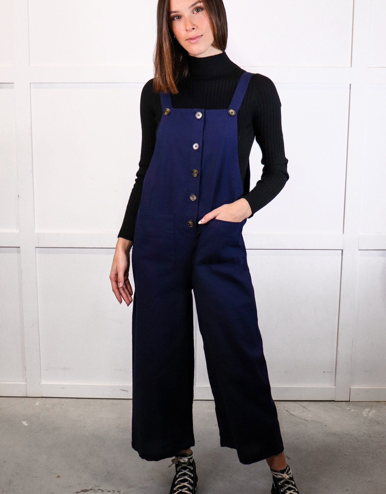 HUSH Solid button down jumpsuit