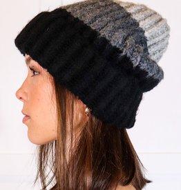 HUSH Colour block knit beanie