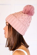 HUSH Cable knit thermal lined beanie