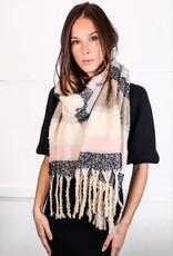 HUSH Ultra soft oversized wide striped scarf