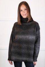 HUSH Turtle neck ombre sweater