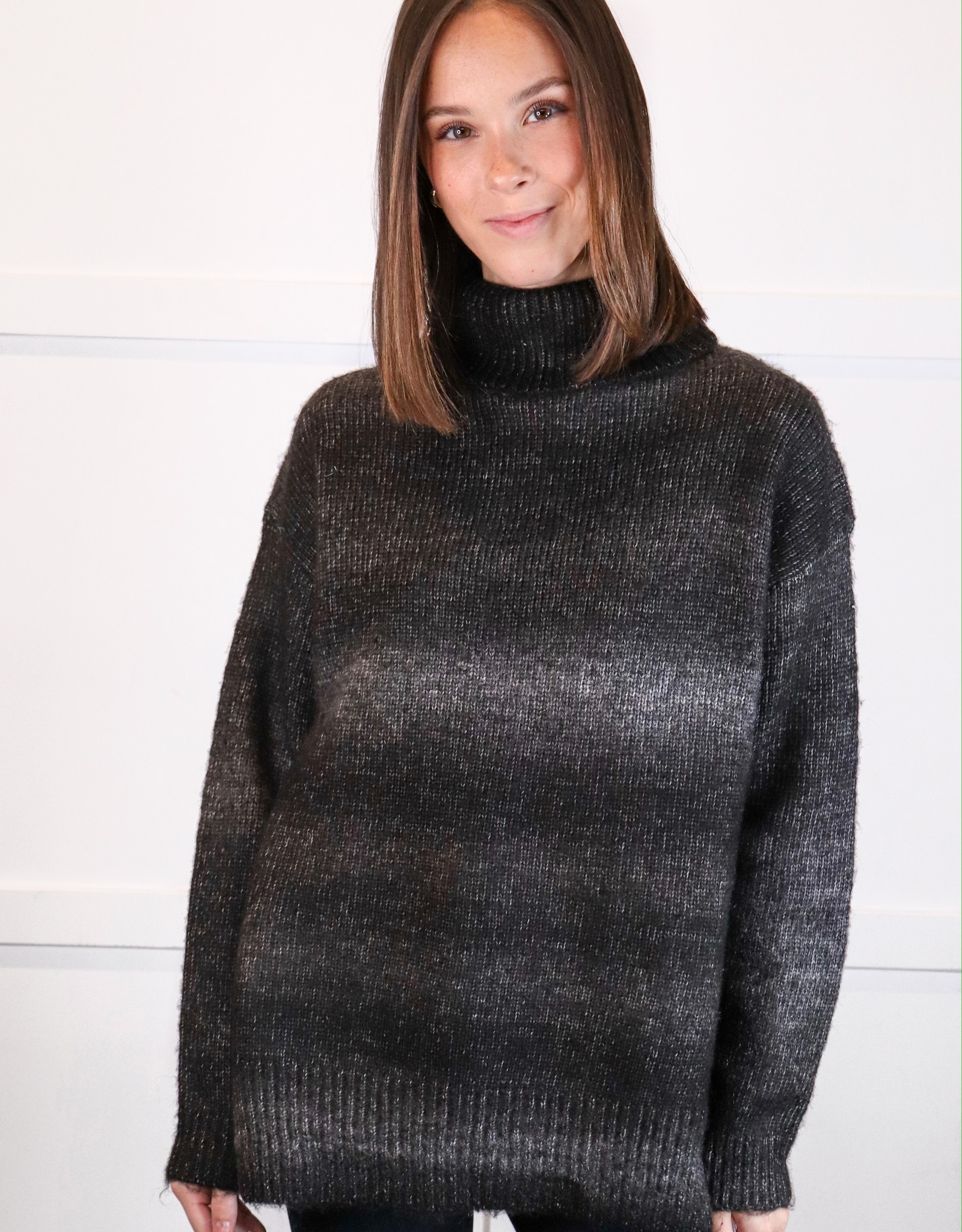 HUSH Turtle neck ombre sweater
