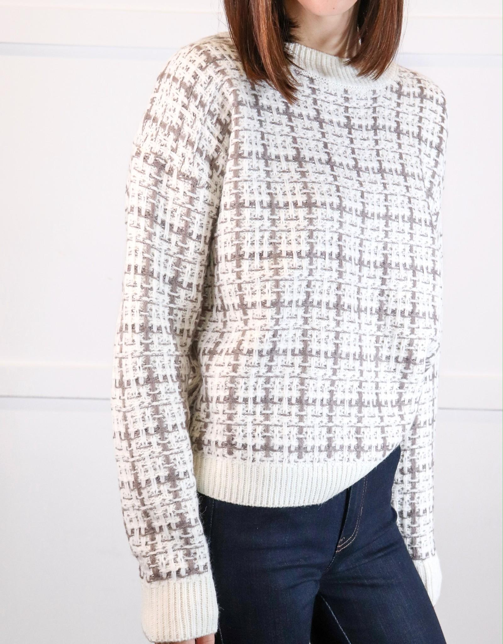 HUSH Checker detail sweater