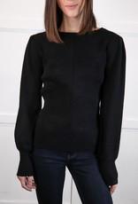 HUSH Shoulder shirring detail knit top