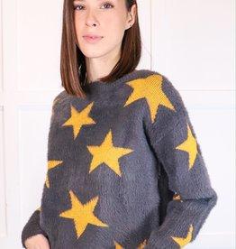 HUSH Star print mohair sweater