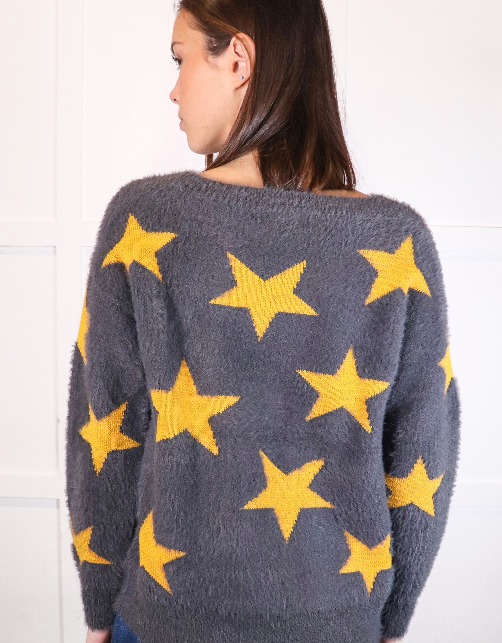 HUSH Star print mohair sweater